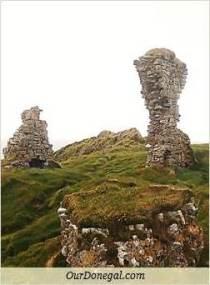 Sections Of Kilbarron Castle Ruins
