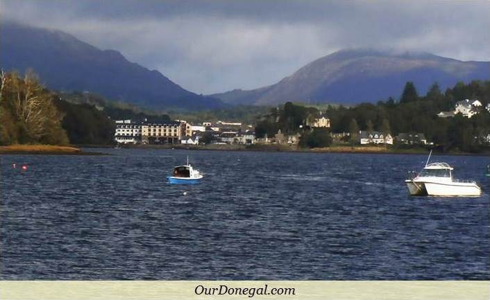 Donegal Town At The Foot Of The Bluestack Mountains, With Barnesmore Gap