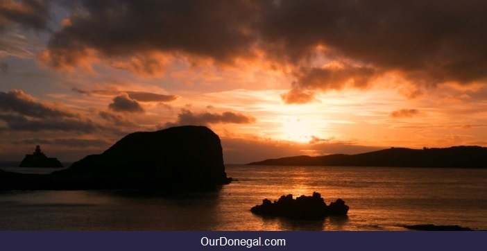 Atlantic Sunset Near Killybegs Donegal Ireland