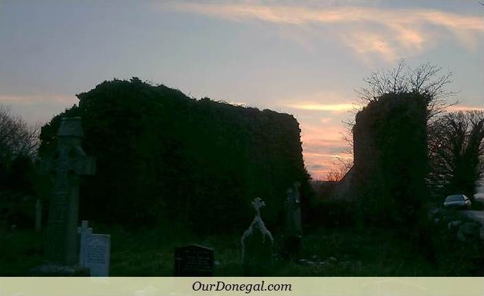Sunset At Abbey Assaroe, Ballyshannon, Near Bundoran Co Donegal, Ireland