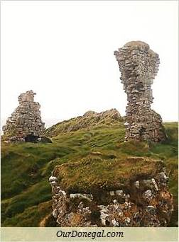 Sections Of Kilbarron Castle Ruins