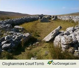 Cloghanmore Court Tomb, Southwest Donegal, Ireland. Neolithic Era C.3,600BC