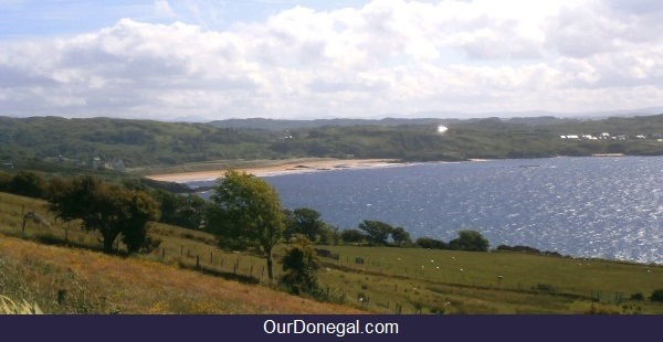 Fintra Beach Viewed From Largy Near Killybegs