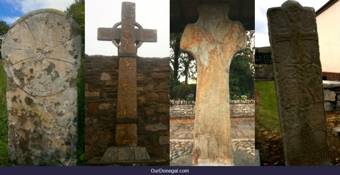 Early Celtic Crosses Donegal County Ireland