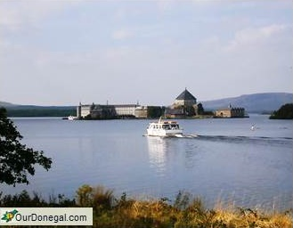 Pilgims On Boat To 'Saint Patrick's Purgatory', Station Island, Lough Derg In Donegal
