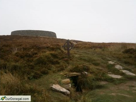 Saint Patrick's Well At Grianan Of Aileach, Donegal. Baptism Site Of King Eoghain