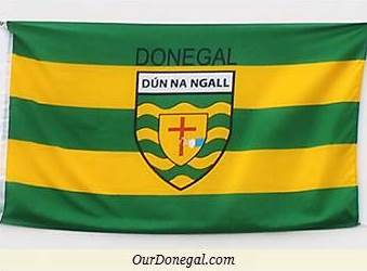 A Colourful Donegal Flag Featuring The Iconic Crest