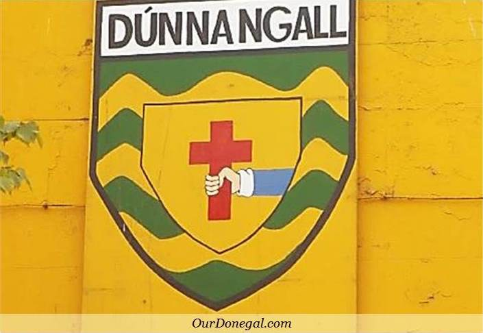 Painting Of The Donegal Crest, Celebrating All-Ireland Gaelic Football Victory. Pettigo