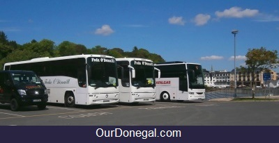 Tour Coaches On The Quay At Donegal Town