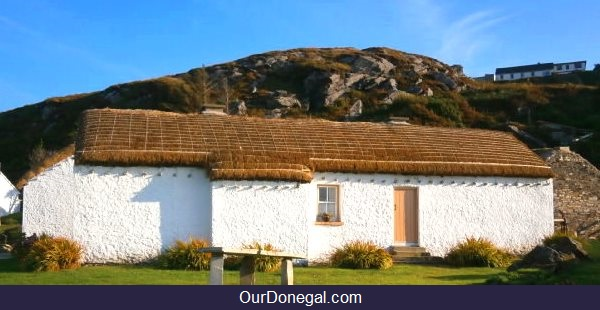 Traditional Irish Cottage In A Celtic Village, Glencolmcille Folk Museum, SW Donegal