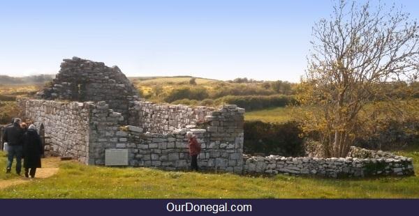 The Historic Celtic Ruins Of Kilbarron Church, County Donegal Éire