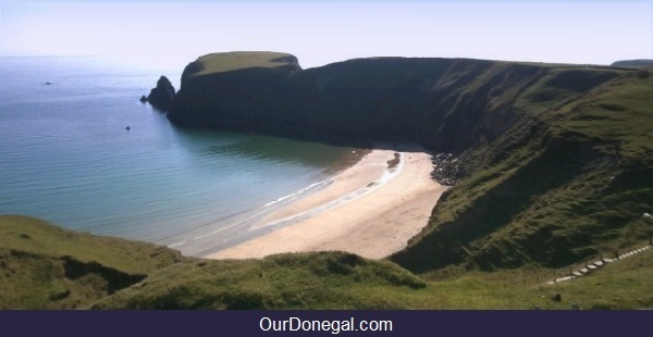 Trabane Beach, Cliffs And Doon Point, Past Sites Of Ancient Celtic Forts, Donegal Ireland