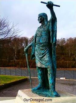 Celtic Chieftain Red Hugh O'Donnell I, Donegal Town, Northwest Ireland