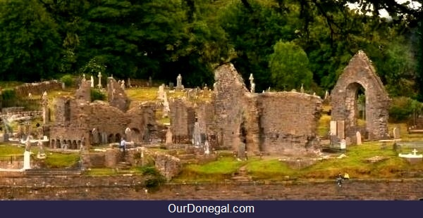 Ruins And Graveyard Of Donegal Town's Historic Abbey