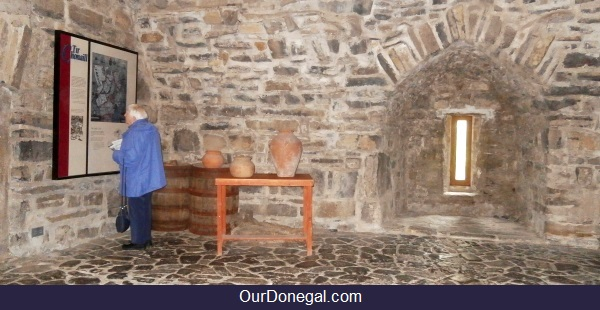 Original 540 Year Old Floor And Walls Of O'Donnell Castle Donegal, Northwest Ireland