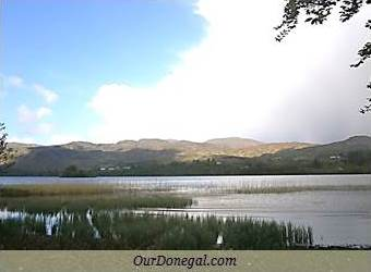Lough Eske Framed By The Bluestack Mountains, South Donegal, Ireland