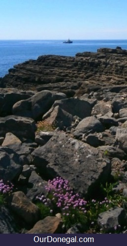 Coastal Rock Formation On Saint John's Point Peninsula Donegal