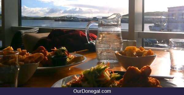 Tara Hotel Lunch Overlooking The Harbor At Killybegs Donegal Ireland