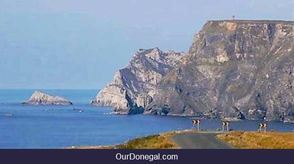 3-Storey Tower On Glen Head Cliffs Near Glencolmcille In Southwest Donegal Ireland