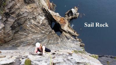 Climbing Sail Rock
