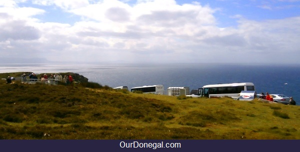 Tour Buses At Slieve League Cliffs