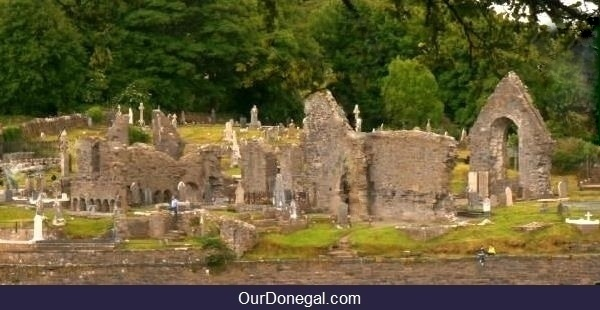 Historic Donegal Abbey In Donegal Town, Northwest Ireland