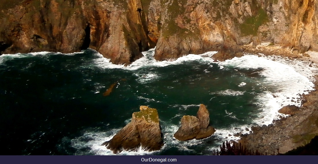 Atlantic Sea Stacks, Slieve League Cliffs, Donegal Ireland. Europe's Highest Marine Cliffs