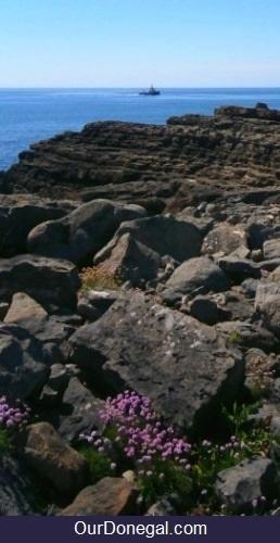 Coastal Rock Formation On Saint John's Point Peninsula Donegal