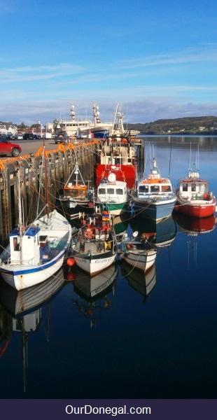 Small Fishing Boats Moored At Killybegs Port, Ireland