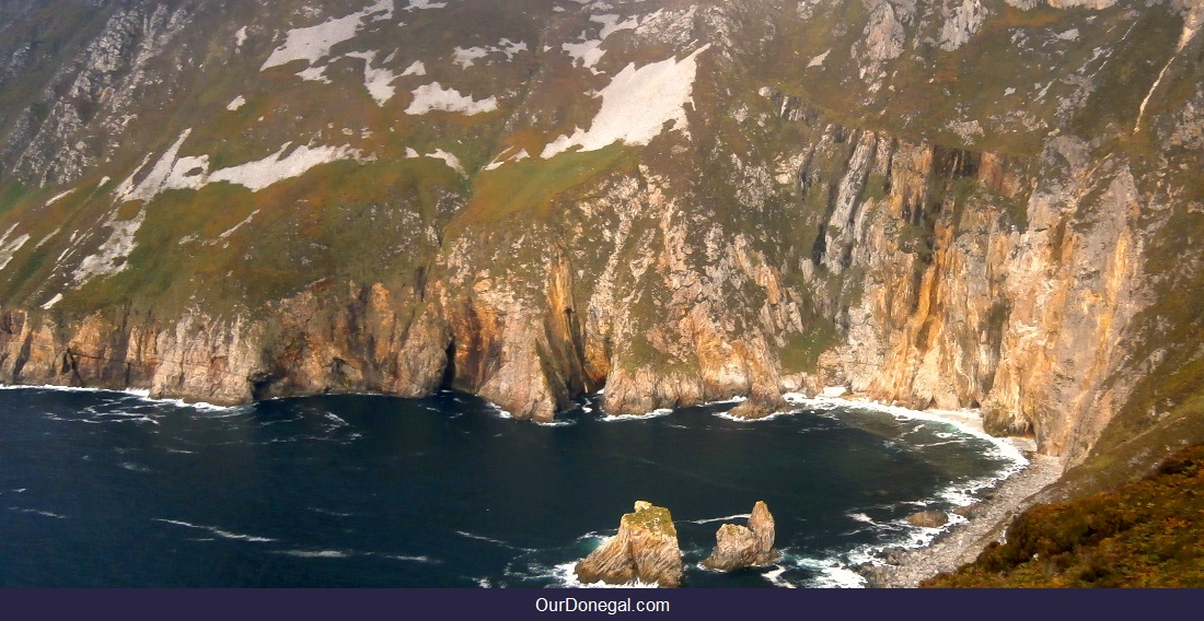The Sea Cliffs Of Slieve League Donegal Ireland Are Over 600 Meters High
